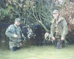 Two former club PresidentsRoger Deweese &  Chad Wilson with Turbo. Ducks beware!